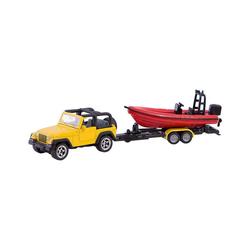 Siku Spielzeug-Auto SIKU 1658 Jeep mit Boot