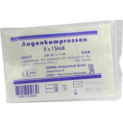 AUGENKOMPRESSEN 5.8X7CM STERIL