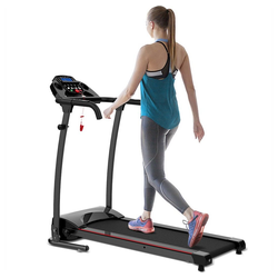 Vaxiuja Laufband Klapplaufband Elektrische Jogging-Laufmaschine mit Transportrad und einfacher Montage