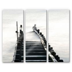 Wall-Art Mehrteilige Bilder Way to nowhere (3-teilig), (Set, 3 Stück) 40 cm x 0,4 cm x 100 cm