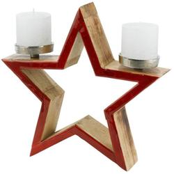 Kerzenhalter Stern rot Kerzen Laternen Wohnaccessoires