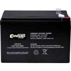 CE-12/15 Spezial-Akku LiFePo-Block Flachstecker LiFePO 4 12.8V 15000 mAh
