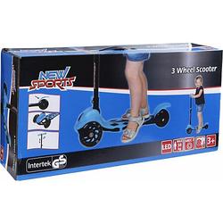 3-Wheel Scooter Blau, klappbar, 110 mm bunt