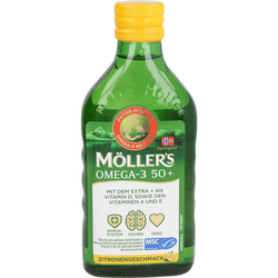 MÖLLER'S Omega-3 50+ extr.Vit.D Zitronengeschm.Öl 250 ml