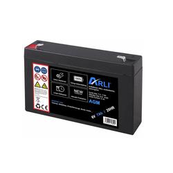 ARLI AGM Blei Akku 6V 7.2Ah 20HR Batterie Glasfaservlies Bleiakku Accu Battery Bleiakkus 7200 mAh (6,0 V)