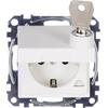 Kopp Kopp Einsatz Schutzkontakt-Steckdose abschließbar, Schutzkontakt-Steckdose mit Klappdeckel HK 07 Re