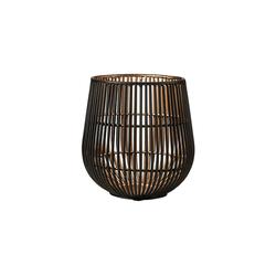 BUTLERS Teelichthalter YOKO Teelichthalter Höhe 13cm, schwarz-goldener Teelichthalter Höhe 13 cm - aus Eisen