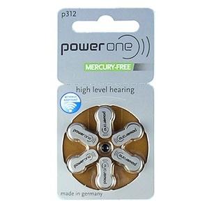 Power one Hörgerätebatterie Typ 312 (6 Stück)