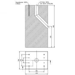 Betonfundament für ABL Ladesäule eMC2