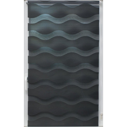 Doppelrollo Doppelrollo Welle, sunlines, Lichtschutz, ohne Bohren, freihängend, Effektiver Sichtschutz grau 140 cm x 150 cm