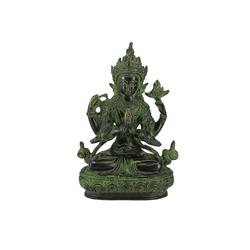 Guru-Shop Dekofigur Messingfigur, Statue weiße Tara, Statue 20 cm -..