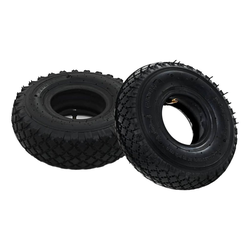 vidaXL Sackkarre vidaXL 2 Reifen 2 Schläuche 3,00 - 4 260 x 85 für Sackkarren Gummi
