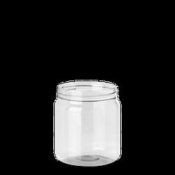 500 ml PET Dose - rund - klarsichtig