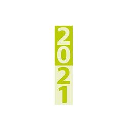 Streifenplaner Compact Grün 2021