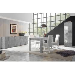 LC Esstisch Dama,Breite 180, erweiterbar durch Ansteckplatte grau