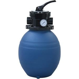 vidaXL Sandfilter mit 4 Wege Ventil Sandfilteranlage Poolfilter Poolpumpe Filteranlage Filterkessel Pool Filter Schwimmbecken Blau 300mm 7m3/h