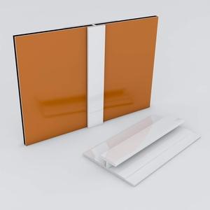 Duschrückwand-Profilsystem Verbindungsprofil Aluprofil Aluminiumprofil für 3mm Duschrückwand Küchenspiegel 300cm weiss