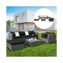 Rattanmoebel, Gartenmoebel Poly Rattan, Lounge Set Gartenlounge Gartengarnitur Gartenset Sitzgruppe