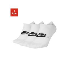 Nike Sneakersocken (3-Paar) mit Logo auf dem Mittelfuß weiß L (42/46)