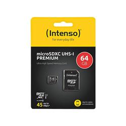 Intenso Premium Speicherkarte (64 GB, 45, für Handy & Smartphone)