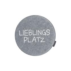 Magma Stuhlkissen Avaro in grau: Lieblingsplatz, 35 cm