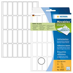 896 HERMA Movables Etiketten 10605 weiß