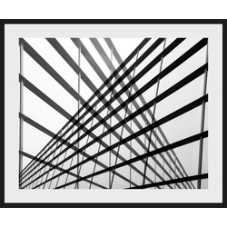 Places of Style Bild Stahlkonstrukt, mit Rahmen 40 cm x 30 cm x 2,4 cm