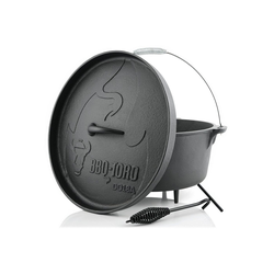 BBQ-Toro Feuertopf BBQ-Toro Dutch Oven DO18A, 19,0 L Alpha Gusseisen Kochtopf, Gusstopf
