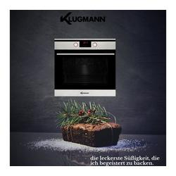 Klugmann Einbaubackofen, mit Klugmann Einbaubackofen, mit Einbau-Backofen Autark 60cm, Heißluft, Grill-/Brat-System, Timer, 65L, Touch, Edelstahl