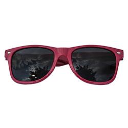 Nerdbrille Hornbrille 80s Retro Nerd Streber Sonnenbrille - lila