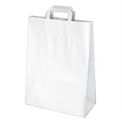 GASTRO Papiertragetaschen 39 x 32 x 16 cm mit EAN-Code weiß, 250 Stk.