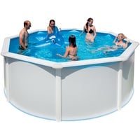 "Steinbach Stahlwand Swimming Pool Set ""Highline"",weiß,550 x 366 x 132 cm"