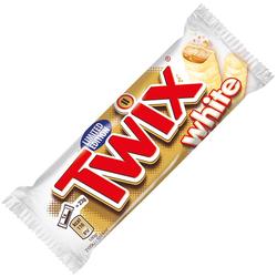 Twix White Knuspriger Keks mit Karamell umhüllt weißer Schokolade 45g
