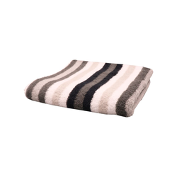 Cawö Handtuch Streifen in schwarz/weiss/grau, 50 x 100 cm