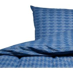 David Fussenegger Bettwäsche David 'Wabe' 140 x 200 cm Blau
