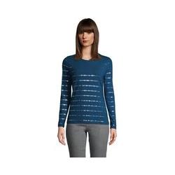 Grafik-Shirt aus Baumwoll/Modalmix, Damen, Größe: L Normal, Blau, by Lands' End, Ägäis Sterne - L - Ägäis Sterne
