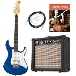 Yamaha Pacifica 012 DBM E-Gitarre Set inkl. Amp + Kabel + E-Gitarrenschule, Blau