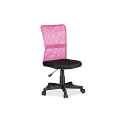 relaxdays Drehstuhl Drehbarer Bürostuhl rosa