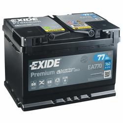 Exide EA770 Premium Carbon Boost 77Ah Autobatterie