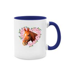 Shirtracer Tasse Pferd mit Herz - Tasse zweifarbig