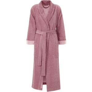 Gözze Turin Soft Bademantel mit Schalkragen, beere, Morgenmantel aus 50% Baumwolle und 50% Microfaser, Größe: L