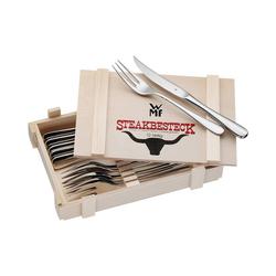 WMF Steakmesser 12-tlg. Steakbesteck Set in Holzkiste silberfarben