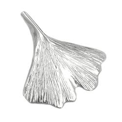 Gallay Kettenanhänger Anhänger 26x27mm Ginkgoblatt glänzend Silber 925 (inkl. Schmuckbox), Silberschmuck für Damen