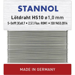 Stannol HS10 Lötzinn, bleifrei bleifrei Sn0.7Cu 30g 1.0mm