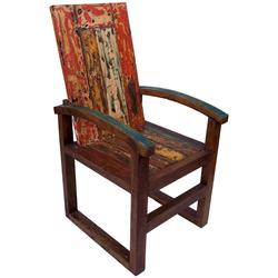 Guru-Shop Stuhl Holz Sessel, Stuhl aus recyceltem Teakholz -..
