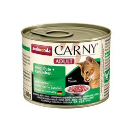 ANIMONDA Carny Adult Rind, Pute + Kaninchen 6 x 200 g