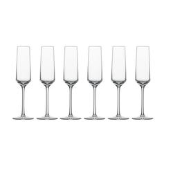 SCHOTT-ZWIESEL Sektglas Sektglas 6er-Set Pure (6-tlg), TRITAN -Kristallglas