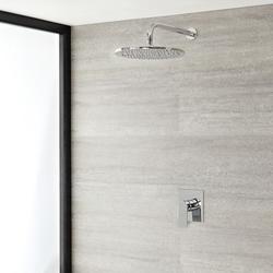 Einhebel-Duscharmatur mit 300mm rundem Regenduschkopf, Chrom - Harting