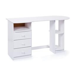 ebuy24 Schreibtisch TW Schreibtisch 3 Schubladen, 3 Fächer, weiss.