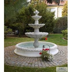 KP-100XL Etagen Gartenbrunnen mit Wasserbecken als Garten Springbrunnen 220cm 990kg Beton Steinguss Brunnen
